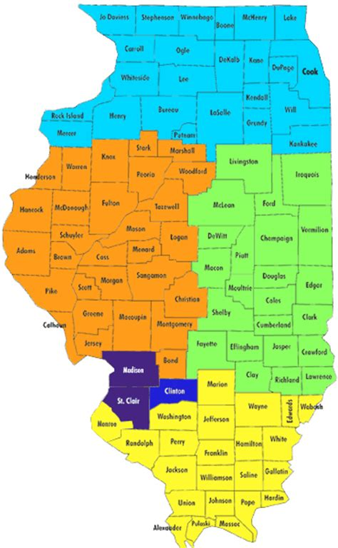 map of counties in illinois admission territories for illinois counties mckendree