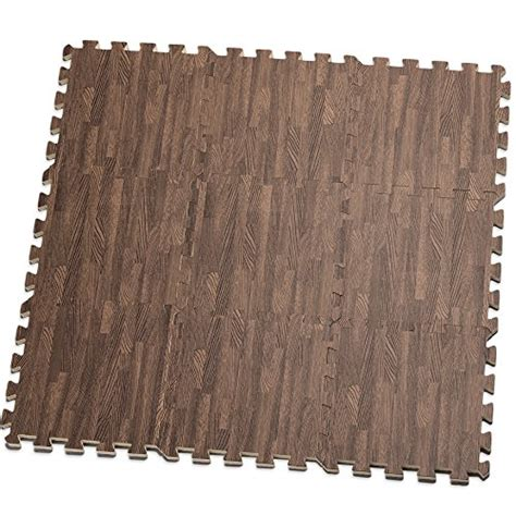 Anti Fatigue Foam Mat Set by Hemingweigh Printed Wood Grain Interlocking Foam Anti Fatigue Floor Puzzle Mats Makes A