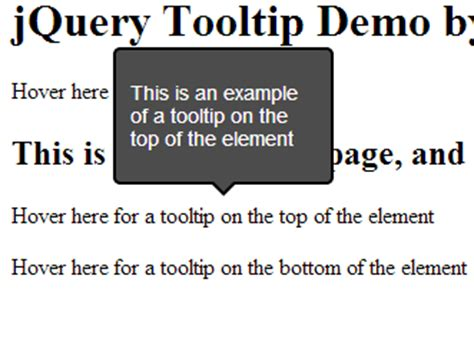 tutorial jquery tooltip creating a stylish jquery tooltip using a plugin