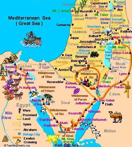 ancient egypt map and timeline the exodus journey through the wilderness 01 how unit