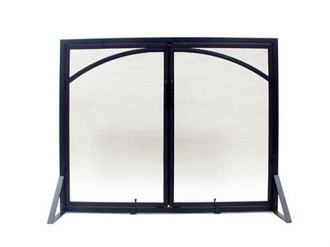 Minuteman Fireplace Doors by Minuteman X800280 Black Fireplace Screen
