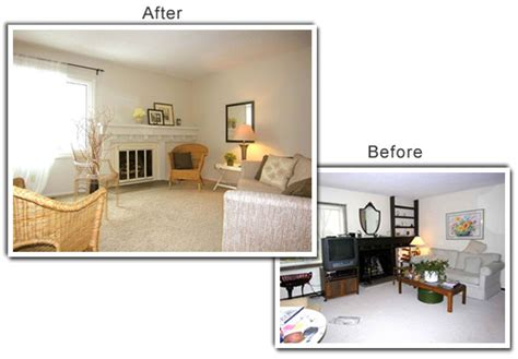 Staging A Living Room Before And After Home Staging Photo Gallery
