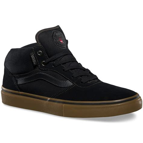 Vans Gilbert Crockett Pro Denim Black Gum Premium Icc 1 vans gilbert crockett pro mid shoes black gum 9 5