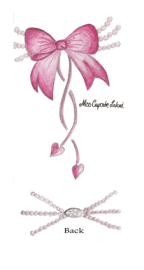 pink bow tattoo designs pink pearl bow by cupcake lakai on deviantart