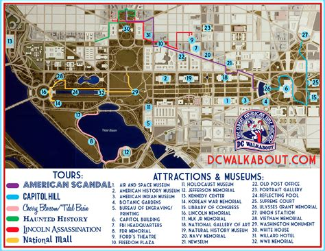 Washington Dc Tour Map by What To Do In Washington Dc Map