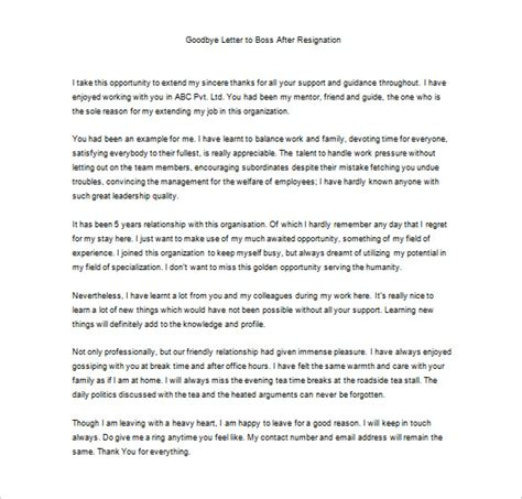Thank You Letter To After Resignation by Thank You Letter To 9 Free Word Excel Pdf Format Free Premium Templates