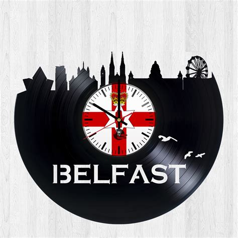Records Belfast Belfast Northern Ireland Handmade Vinyl Record Wall Clock