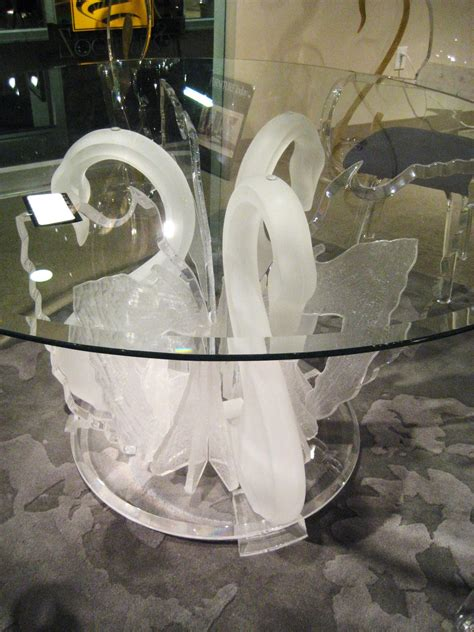 acrylic legend swan dining table ls 9500 usa