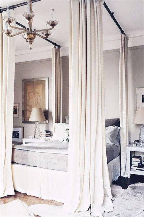 curtains attached to ceiling 33 canopy beds and canopy ideas for your bedroom digsdigs