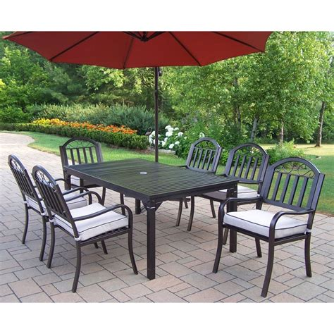 Patio Dining Sets Rochester Ny Shop Oakland Living Rochester 8 Hammer Tone Bronze