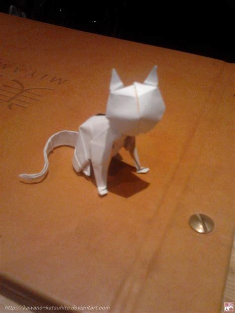Paper Folding Cat - origami cat by kawano katsuhito on deviantart