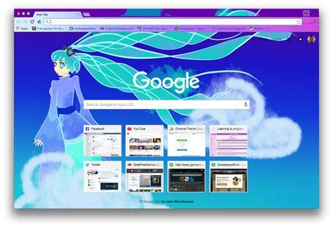 theme google chrome miku miku chrome theme by lucifete on deviantart