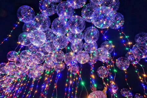 helium balloons with led lights 14 inch clear helium bobo balloons with copper led