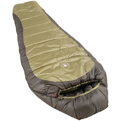 Sleeper Bags by Coleman Weather Sleeping Bag Brown Ebay
