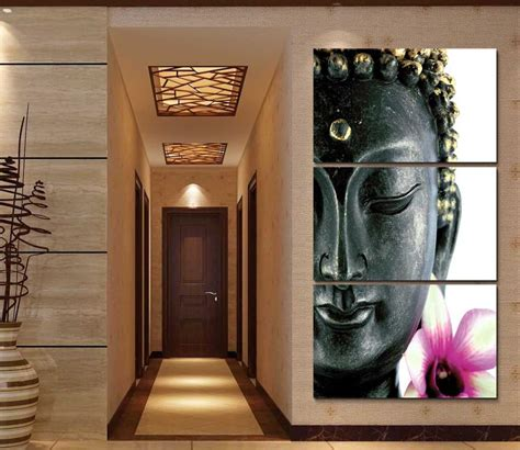 paintings home decor framed print abstract orchid flower buddha painting home