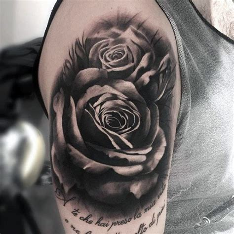 black and grey rose tattoos for men 100 black and grey tattoos for grandeur of gradients