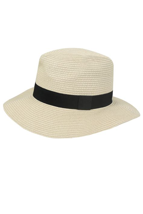 Hat With Paper - paper straw trilby hat with black band detail