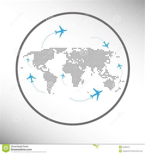 clipart mondo viaggio intorno al mondo di trasporto aereo illustrazione