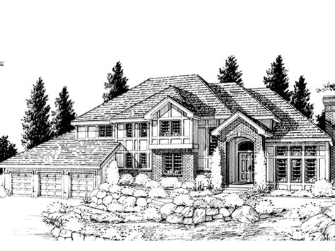 multi level home plans gildford tudor multi level home plan 015d 0194 house