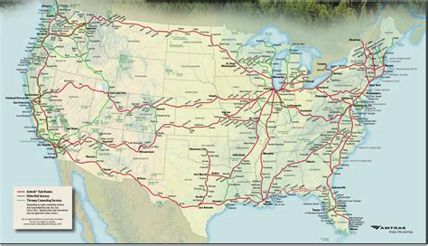 amtrak rail map usa and my world on the trak in the usa