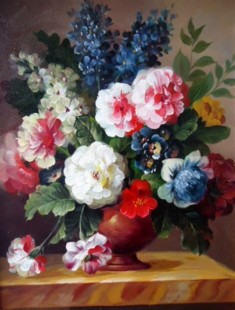 Flowers In Vases Paintings by Saper Galleries Is The Source For Small Still