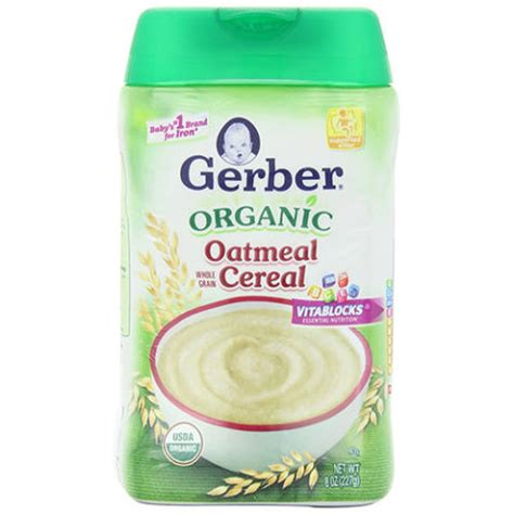Gerber Rice Cereal Oatmeal Cereal 10 best baby cereals for 2018 top rice and organic