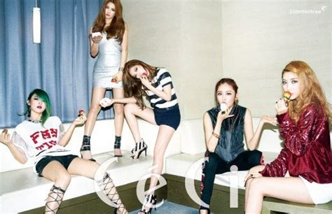 4minute drive fans crazy with sexy ceci pictorial 4minute drive fans crazy with sexy ceci pictorial