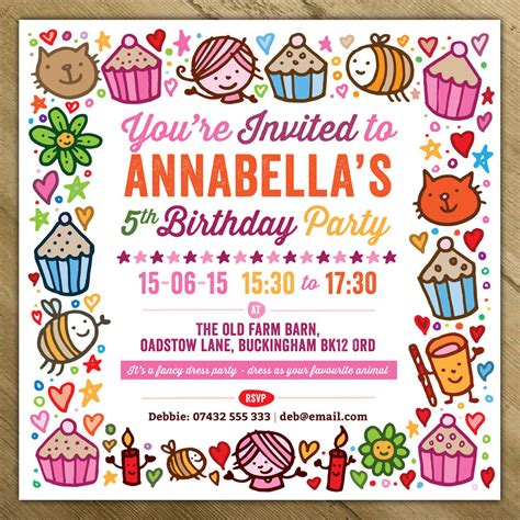 birthday invitations childrens invitations by a is for alphabet notonthehighstreet