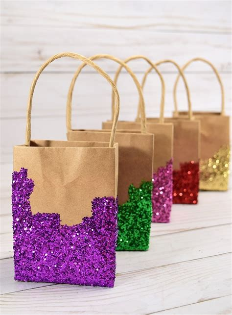 glitter dipped gift bags dream   bigger