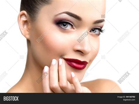 beautiful model woman in beauty salon makeup young modern