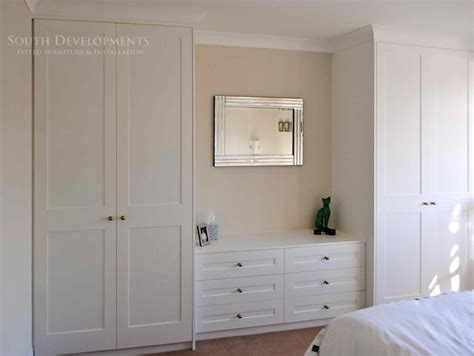 built in closet chest of drawers shaker style fitted wardrobes chest of drawers