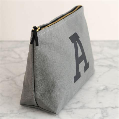 E M O R Y Snapshot Bag Original Brand grey initial wash bag by alphabet bags notonthehighstreet