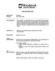 Resume Description Cook Prep Cook Description Template Free Microsoft Word