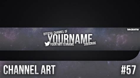 Simple Channel Art Template 57 Free Photoshop Download Youtube Channel Template