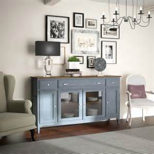 fontana collection solid wood sideboard with glass doors