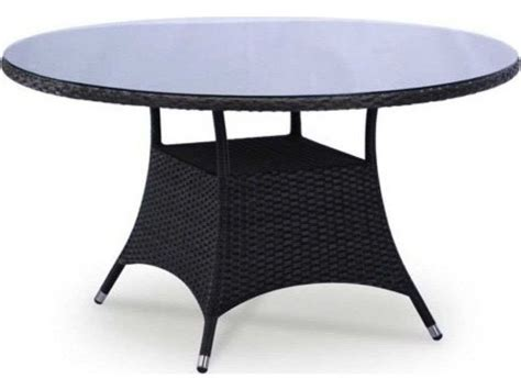 Wicker And Glass Dining Table Jaavan Bistro Wicker 34 Dining Table Glass Not Included Ja18