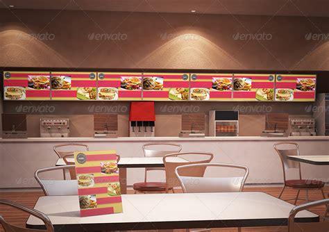 fast food building branding mockup  kimarotta graphicriver