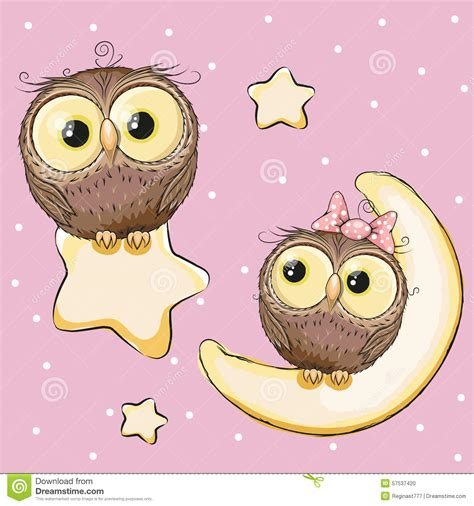 owl lovers lovers owls stock vector image 57537420