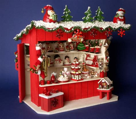 german miniature christmas market stall cafeteria by