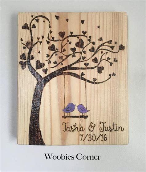 Wedding Anniversary Gift Wood by Custom Wedding Sign Wood Burned Wedding Sign Wedding
