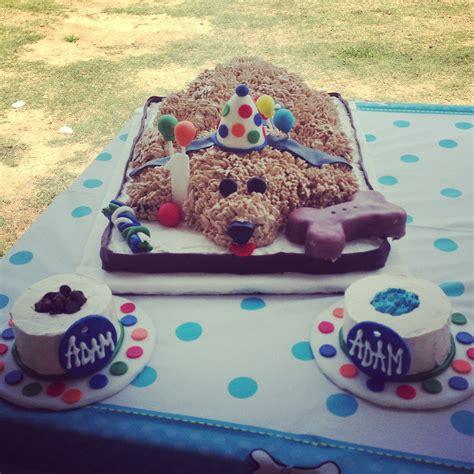 puppy theme puppy themed birthday cake