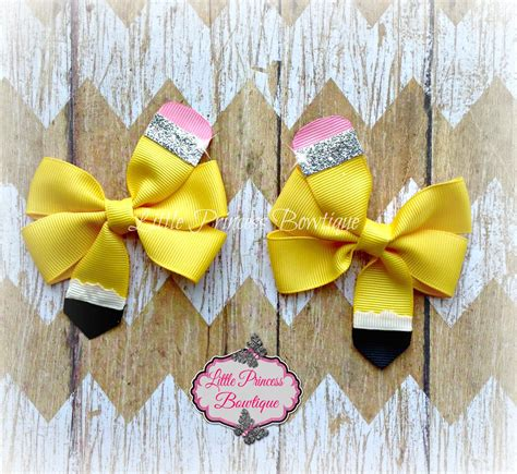 back to school hairstyles with bows back to school hair bows back to school bows pencil bow