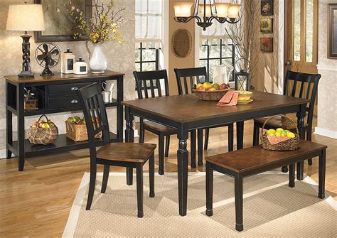 ashley furniture dining table with bench major discount furniture owingsville rectangular dining