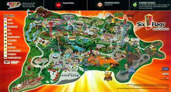six flags magic mountain 2011 park map guide