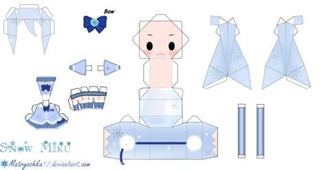 snow hatsune miku papercraft by matryoshka12 on deviantart