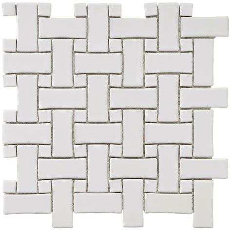 basket weave tile merola tile basket weave white 9 3 4 in x 9 3 4 in x 5