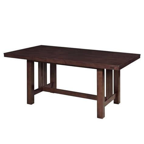 extendable trestle wood dining table in cappuccino tw60mcno