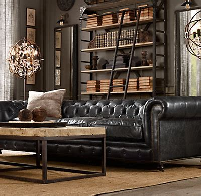 Chesterfield Sofa Restoration Hardware 118 Quot Kensington Leather Sofa