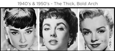 eyebrow fashions throughout the decades eyebrows through the ages 1940 s 1950 s