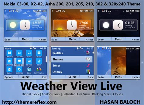 live themes for nokia x2 00 weather view live theme for nokia c3 00 x2 01 asha 200